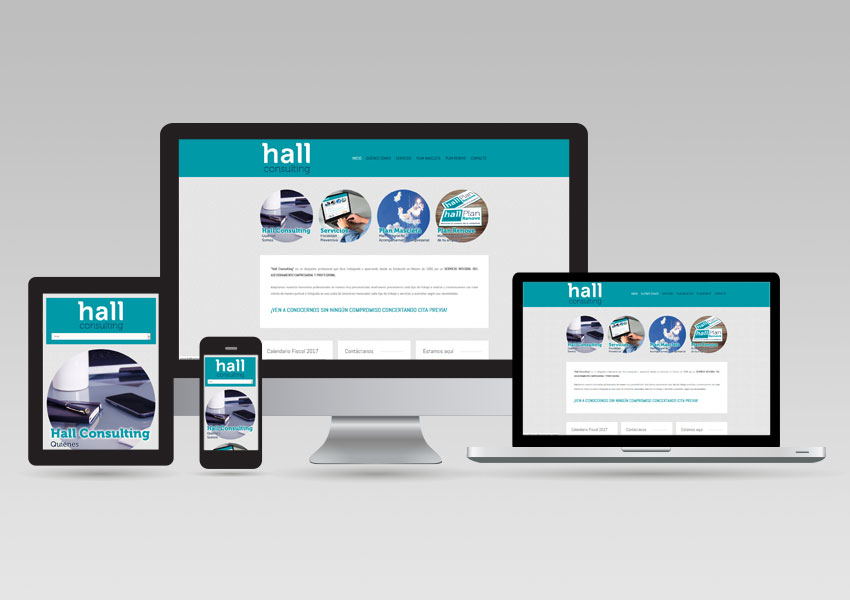 Diseño Responsivo Responsive Adaptable Hall Consulting