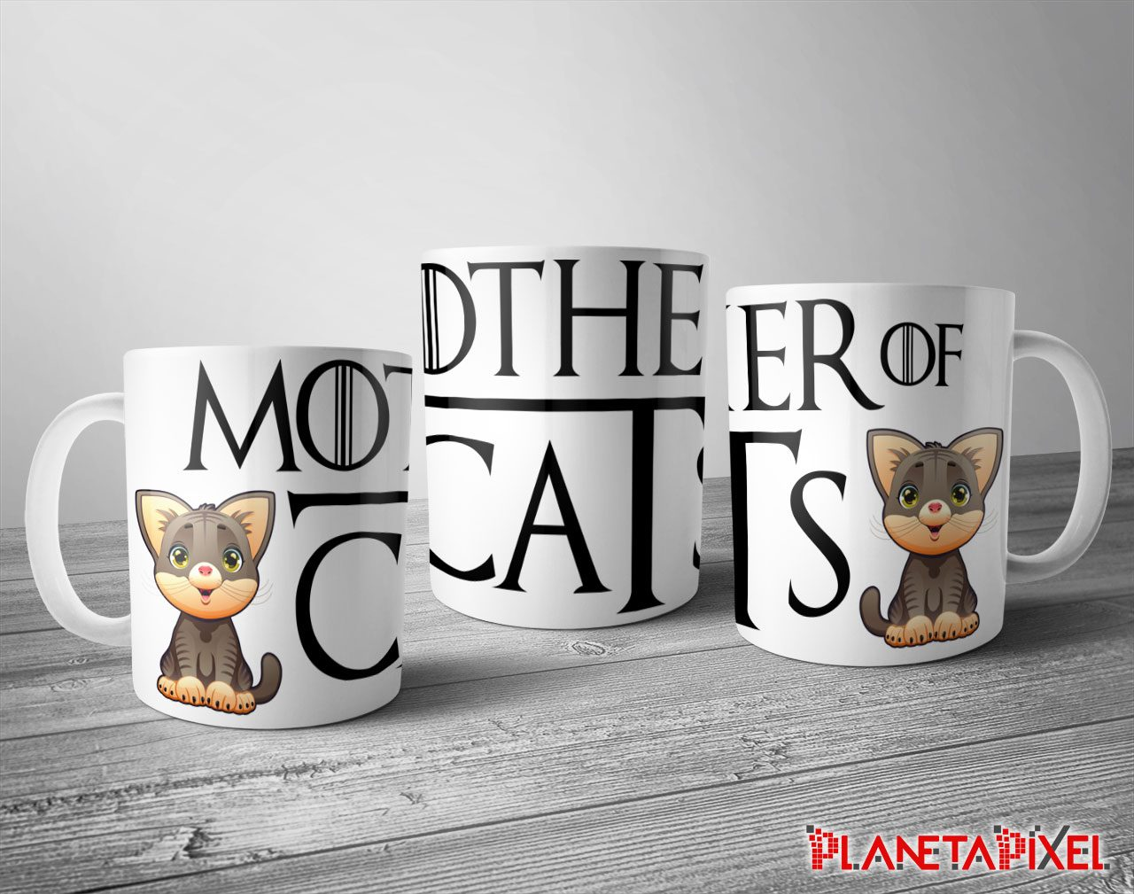 Taza Personalizada Mother Of Cats