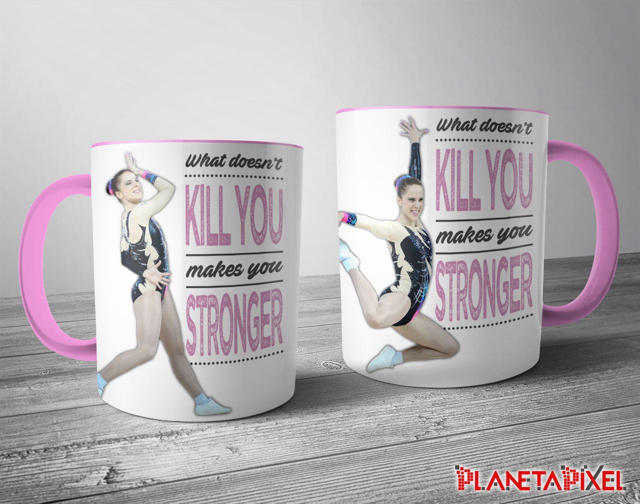 Taza Personalizada What Doesn't Kill You Makes You Stronger